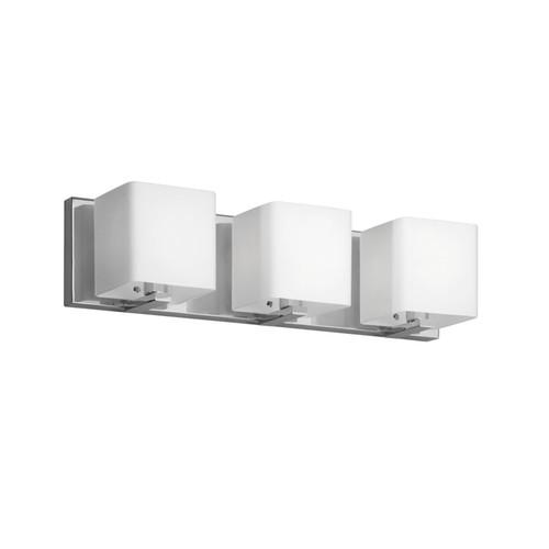 Dainolite Lighting  V1233-3W-PC 3 Light Vanity, Polished Chrome, Frosted White Glass Shade