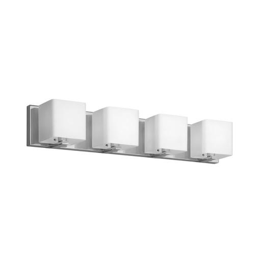 Dainolite Lighting  V1233-4W-PC 4 Light Vanity, Polished Chrome, Frosted White Glass Shade