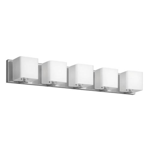 Dainolite Lighting  V1233-5W-PC 5 Light Vanity, Polished Chrome, Frosted White Glass Shade