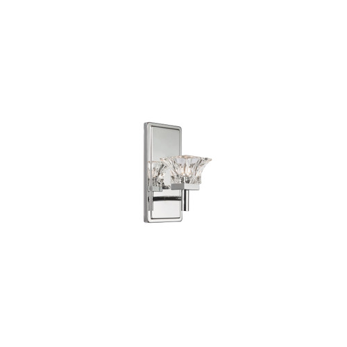 Dainolite Lighting  V144-1W-PC 1 Light Halogen Wall Sconce, Polished Chrome Finish with Clear Glass
