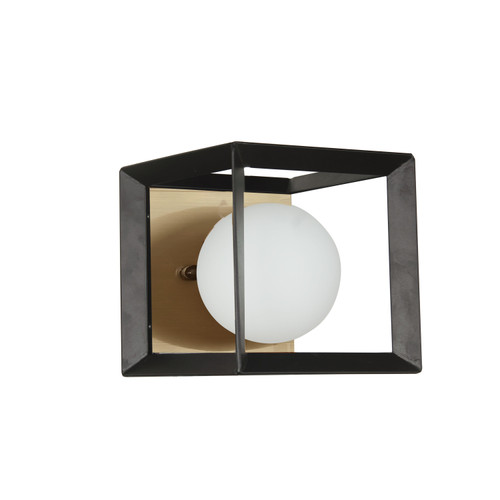 Dainolite Lighting  V166-1W-BK-AGB 1 Light Halogen Wall Sconce Black and Aged Brass Finish