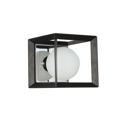 Dainolite Lighting  V166-1W-BK-PC 1 Light Halogen Wall Sconce Black and Polished Chrome Finish
