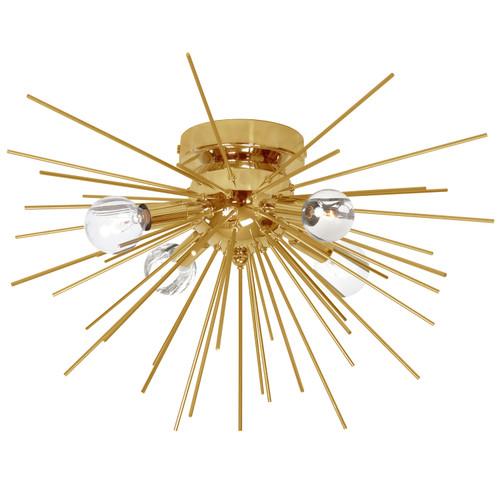 Dainolite Lighting  VEG-184FH-GLD-VB 4 Light Flush Mount, Gold & Vintage Bronze Finish