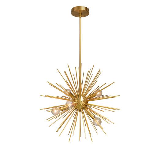 Dainolite Lighting  VEG-196P-GLD-VB 6 Light Pendant, Gold / Vintage Bronze Finish