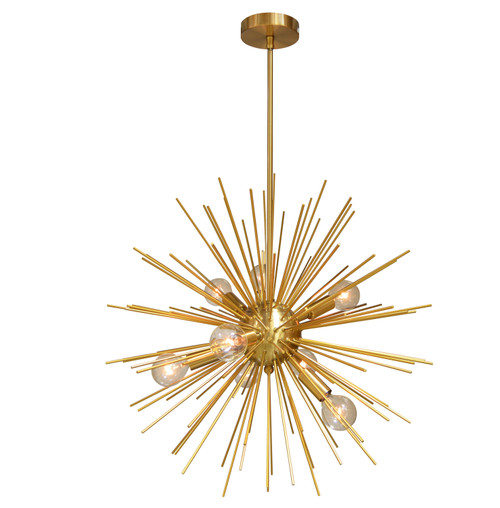 Dainolite Lighting  VEG-248P-GLD-VB 8 Light Pendant, Gold / Vintage Bronze Finish