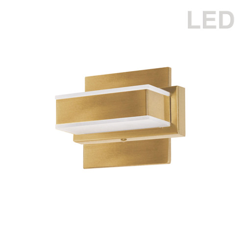 Dainolite Lighting  VLD-215-1W-GLD 1 Light LED Wall Vanity Gold Finish