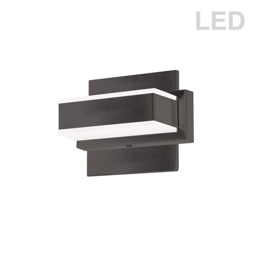 Dainolite Lighting  VLD-215-1W-MB 1 Light LED Wall Vanity, Matte Black Finish