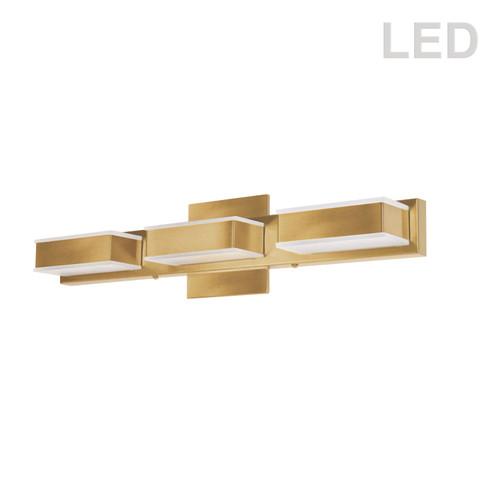Dainolite Lighting  VLD-215-3W-GLD 3 Light LED Wall Vanity Gold Finish