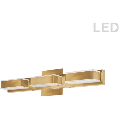 Dainolite Lighting  VLD-215-3W-GLD 3 Light LED Wall Vanity Gold Finish