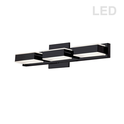 Dainolite Lighting  VLD-215-3W-MB 3 Light LED Wall Vanity, Matte Black Finish