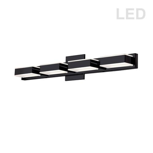 Dainolite Lighting  VLD-215-4W-MB 4 Light LED Wall Vanity, Matte Black Finish