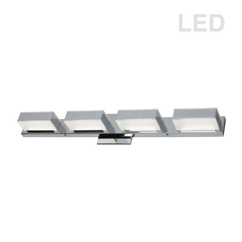 Dainolite Lighting  VLD-215-4W-PC 4 Light LED Wall Vanity, Polished Chrome Finish