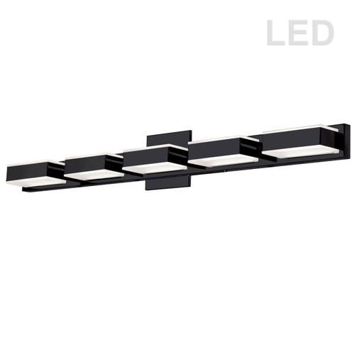 Dainolite Lighting  VLD-215-5W-MB 5 Light LED Wall Vanity, Matte Black Finish