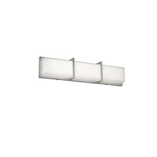 Dainolite Lighting  VLD-313-PC LED Vanity Fixture Polished Chrome White Cased Glass