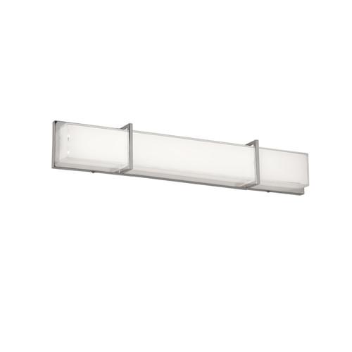 Dainolite Lighting  VLD-314-PC LED Vanity Fixture Polished Chrome White Cased Glass