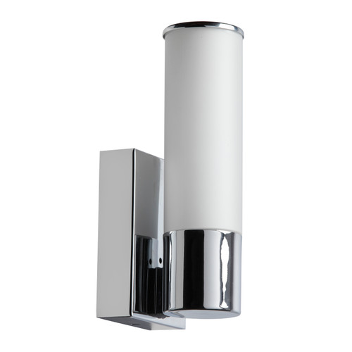 Dainolite Lighting  VLD-811W-PC 1 Light LED Wall Sconce, Polished Chrome Finish, White Frosted Glass