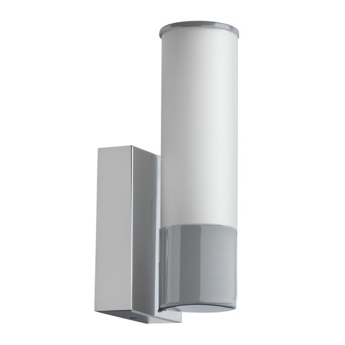 Dainolite Lighting  VLD-811W-SC 1 Light LED Wall Sconce, Satin Chrome Finish, White Frosted Glass