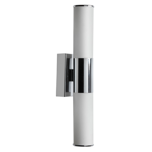 Dainolite Lighting  VLD-812W-PC 2 Light LED Wall Sconce, Polished Chrome Finish, White Frosted Glass