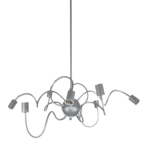 Dainolite Lighting  WAI-3218P-SC 8  Light Oval Pendant, Satin Chrome  Finish