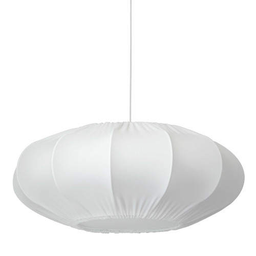 Dainolite Lighting  ZOE-221P-WH-900 1 Light Zoey Pendant Lycra White Shade, Fabric Diffuser, White