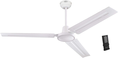 Westinghouse Lighting 7237900 Jax, Modern Industrial Style 56 Inch White Finish Ceiling Fan with Remote