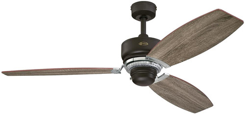 Westinghouse Lighting 7207600 Thurlow 54-Inch Indoor Ceiling Fan Weathered Bronze Finish with Reversible Driftwood/Reclaimed Hickory Blades