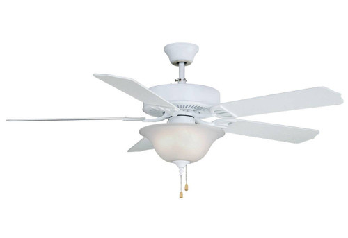 Fanimation BP220MW1-220 Aire Décor - 52 inch - Matte White with Glass Bowl Light Kit - 220v At CLW Lighting!