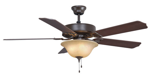 Fanimation BP220OB1-220 Aire Décor - 52 inch - Oil-Rubbed Bronze with Glass Bowl Light Kit - 220v At CLW Lighting!