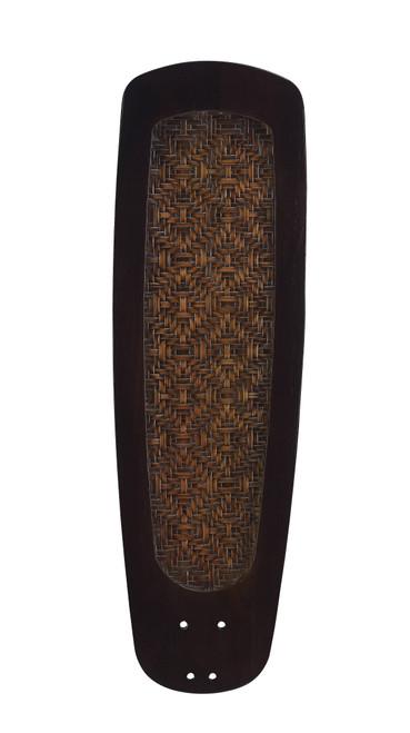 Fanimation B760DWA myFanimation Blade Set of Five - 60 inch - Buttonwood/Bamboo Woven- Dark Walnut At CLW Lighting!