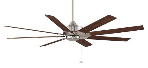 Fanimation FP7910BN Levon Brushed Nickel Ceiling Fan with 8 Walnut Blades