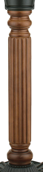 Fanimation FPH70CP Traditional Pedestal Column from Old Havana Collection in Bronze/Dark Finish, Carved Post