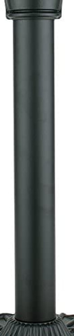 Fanimation FPH70BL Traditional Pedestal Column from Old Havana Collection in Black Finish - This is only the post. Other parts sold separately