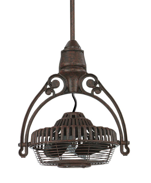 """Fanimation FPH81RS1 Old Havana Ceiling Mount in Rust (1"""" Downrod)"""