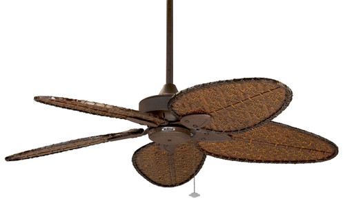 Fanimation FP7500OBP4 Windpointe - 52 inch - Oil-Rubbed Bronze with Brown Narrow Oval Blades At CLW Lighting!