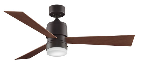 Fanimation FP4620SN-220 Zonix - 54 inch - Satin Nickel with Cherry/Walnut Reversible Blades - 220v At CLW Lighting!
