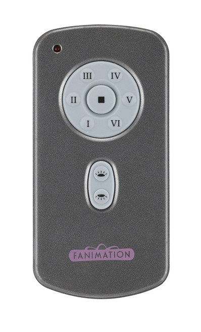 Fanimation TR31 Hand Held Six Speed DC Motor Remote and Transmitter - Charcoal At CLW Lighting!