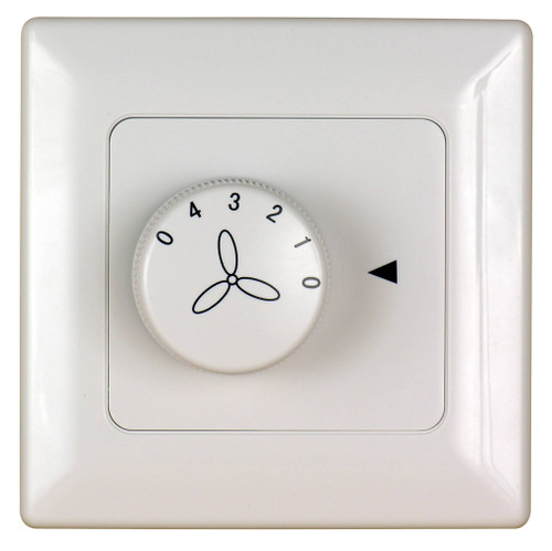 Fanimation C1-220 Four Speed Wall Control Non-Reversing - Fan Speed Only - White - 220v At CLW Lighting!