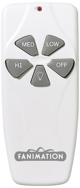 Fanimation C4 Remote Control for Fan & Light (3-Speed/Non-Rev) in White