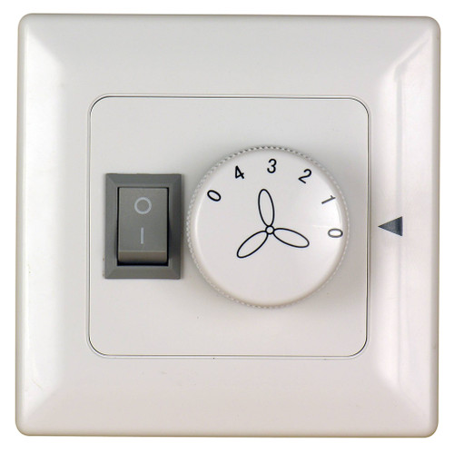 Fanimation C2-220 Four Speed Wall Control Non-Reversing - Fan Speed and Light - White - 220v At CLW Lighting!