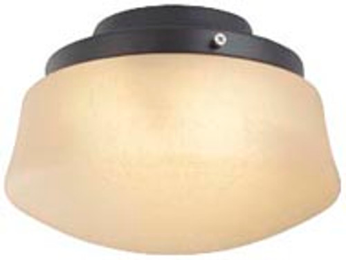 Fanimation LKLP112AAB Low Profile Light Kit with Flared Linen Glass in Antique Brass (E11 Minican Bulbs)