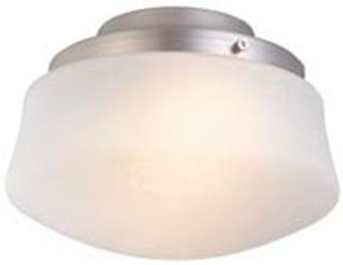 Fanimation LKLP112WSN Low Profile Light Kit with Flared Linen Glass in Satin Nickel (E11 Minican Bulbs)