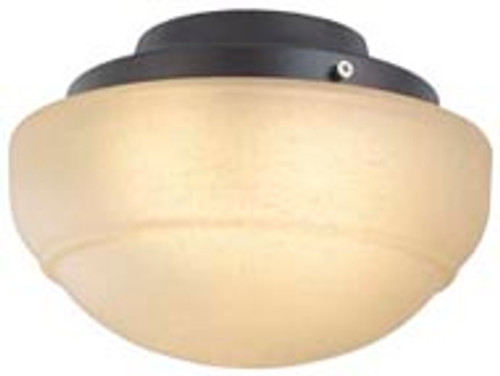 Fanimation LKLP111ARS Low Profile Light Kit with Rounded Linen Glass in Rust (E11 Minican Bulbs)