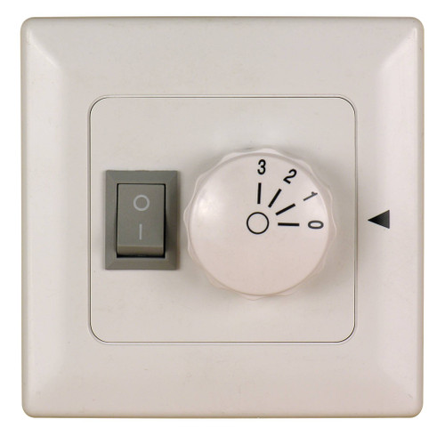 Fanimation C6-220 Three Speed Wall Control Non-Reversing - Fan Speed and Light - White - 220v At CLW Lighting!