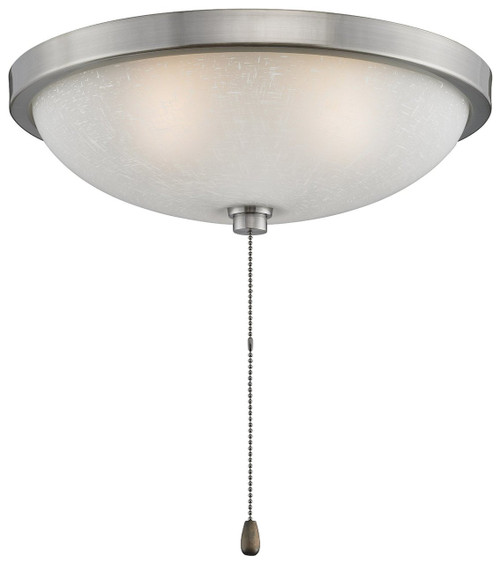 "Fanimation LK124WPW 11"" Light Kit in Pewter with White Frosted Glass"