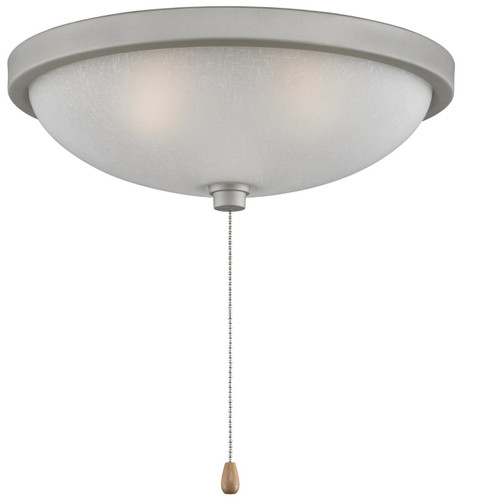"""Fanimation LK124WSN 11"""" Light Kit in Satin Nickel with White Frosted Glass"""