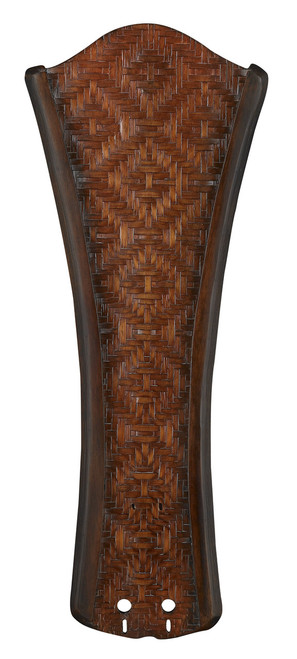 """Fanimation B5270WA 22"""" Concave Carved Blade in Walnut with Woven Bamboo (Set of 5)"""