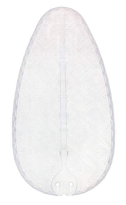 Fanimation BPD4MW Blade Set of Five - 22 inch - Narrow Oval Composite Bamboo - Matte White At CLW Lighting!