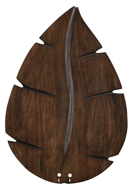 "Fanimation B6080WA 26"" Wide Oval Leaf Carved Wood Blade in Walnut (Set of 5)"