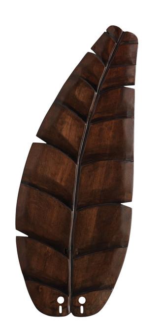 Fanimation B5340WA 22 inch Oval Leaf Carved Wood Blade - Walnut At CLW Lighting!