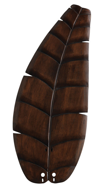 Fanimation B5350WA 26 inch Oval Leaf Carved Wood Blade - Walnut At CLW Lighting!